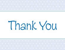 Special Blue Polka Dots Thank You Cards