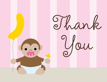 Cute Monkey Thank You Cards