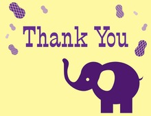 Circus Elephant Thank You Cards