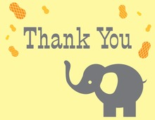 Nuts For Elephant Thank You Cards