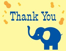Happy Elephant Thank You Cards
