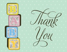 Ultimate Baby Blocks Thank You Cards