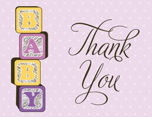 Special Baby Blocks Thank You Cards