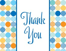 Featued Polka Dots Thank You Cards