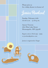 Blue Animal Mobile Invitation