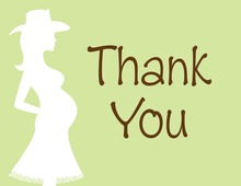 Western Mama Hat Thank You Cards