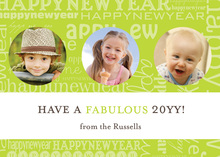 New Years Collage Photo Cards