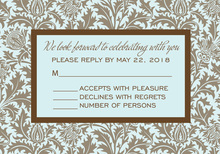 Vintage Chocolate RSVP Cards