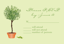 Growing Topiary RSVP Cards
