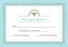 Antique Blue RSVP Cards