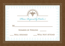 Antique Brown RSVP Cards