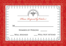 Antique Red RSVP Cards