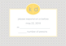 Hip Gray and Yellow RSVP Cards