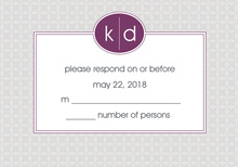 Hip Gray and Purple RSVP Cards