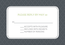 Pin Board Gray RSVP Cards