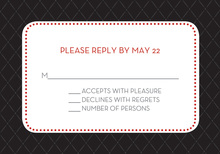 Pin Board Black Red RSVP Cards