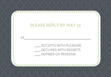 Pin Board Gray Green RSVP Cards