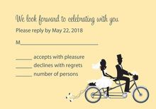Bicycle Built For Two Vanilla RSVP Cards