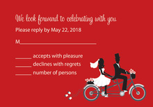 Bicycle Built For Two Red RSVP Cards