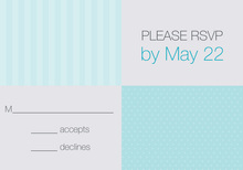 Spring Dots and Stripes RSVP Cards