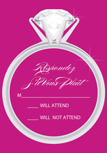 Fuchsia Ring RSVP Cards
