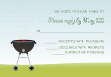 Outdoor Grilling RSVP Cards