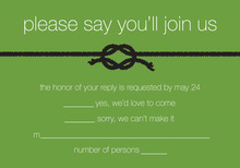 Green Knot RSVP Cards