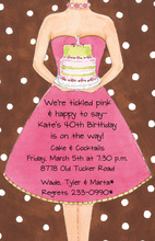 Birthday Girl Brown Dots Invitation