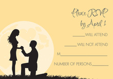 Moonlit Proposal Vanilla RSVP Cards