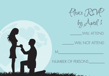 Moonlit Proposal Blue RSVP Cards