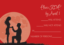 Moonlit Proposal Red RSVP Cards