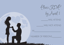 Moonlit Proposal Lavender RSVP Cards