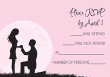 Moonlit Proposal Pink RSVP Cards