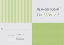 Sage Dots and Stripes RSVP Cards