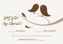 Birds Of A Feather Chocolate RSVP Cards