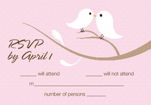 Birds Of A Feather Pink RSVP Cards