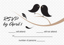 Birds Of A Feather Black RSVP Cards