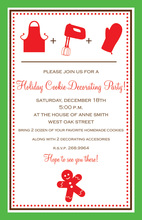Cookie Decorating Kitchen Invitations
