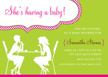 Girlfriends Talk Boy Baby Shower Invitations