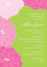 Beautiful Pink Floral Lovely Invitations