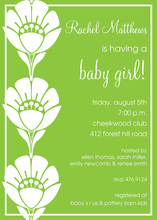 Bright Green Silhouette Floral Invitations