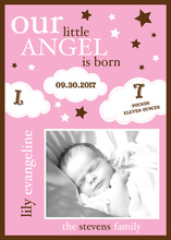 Little Angel Pink Photo Announcements