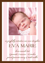 Charming Pink Stripes Photo Announcements