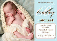 With Love Baby Boy Announcements Photo Cards