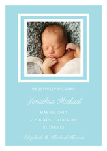 Simply Sweet Boy Baby Announcements Photo Cards