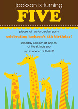 Giraffe Birthday Fun Invitations