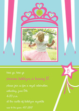 Princess Tiara Birthday Photo Cards