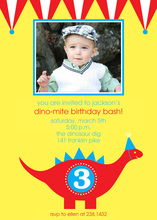 Adorable Dino-Mite Party Invitations