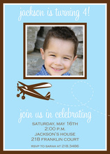 Blue Plane Birthday Photo Cards