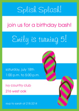 Splish Splash Party Invitations
